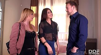 Indecent Proposal Lucky Stud Fucks Busty Bunnies Hard