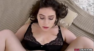 Amilia Onyx watched porn and fucked by stepdad
