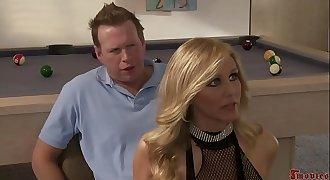 Sexy Blonde Strip Girl threesome Alexis Texas and Julia Ann