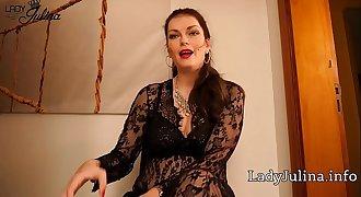 Domina Lady Julina Prostata Zwangsabmelkung mit Lovense Edge für Anal Sklaven