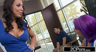 Sexy Nympho Hairdresser Rachel Starr Fucks Bitchy Client's Husband
