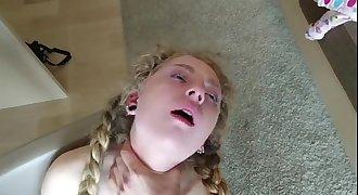 Petite Teen Has Super Intense Orgasm - MP4 480p Quality